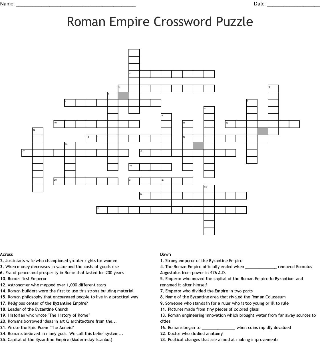 Humanities Crosswords, Word Searches, Bingo Cards - WordMint