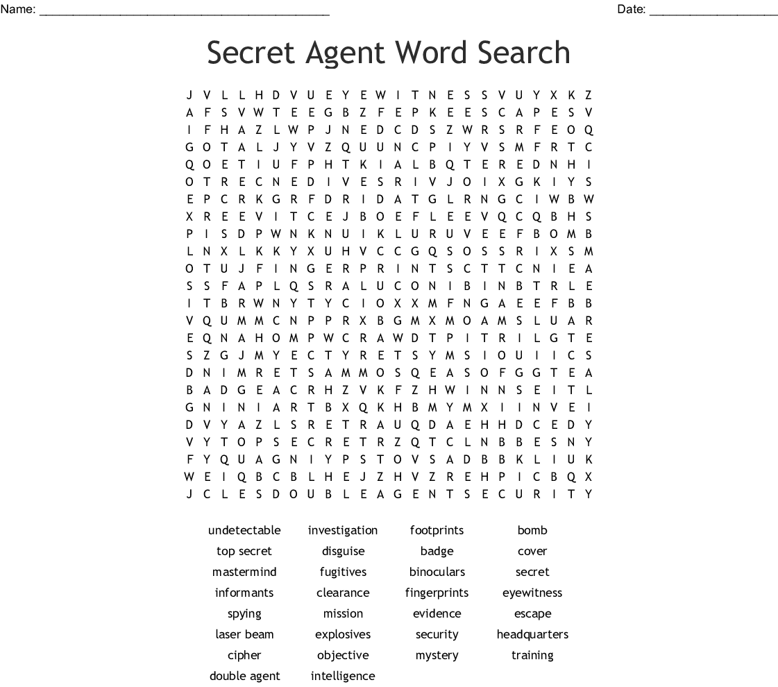 graphic about Secret Agent Badge Printable named Key Consultant Term Look - WordMint