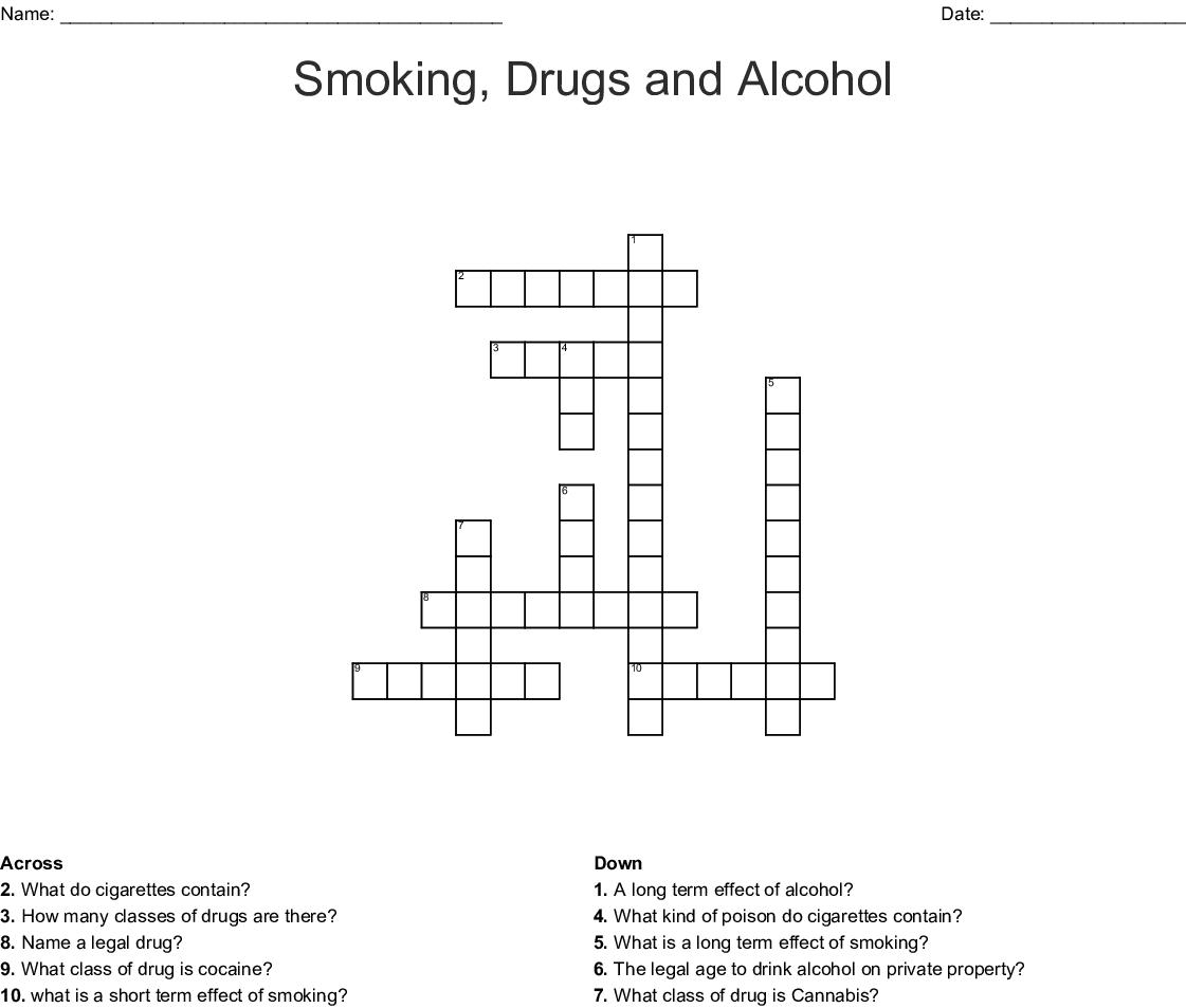Alcohol Crossword Wordmint