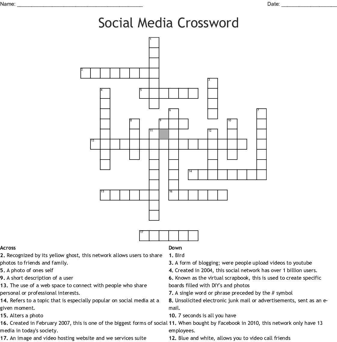 Social Media Word Search - WordMint