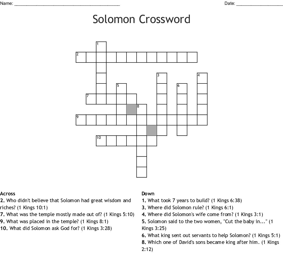 KING SOLOMON Word Search - WordMint