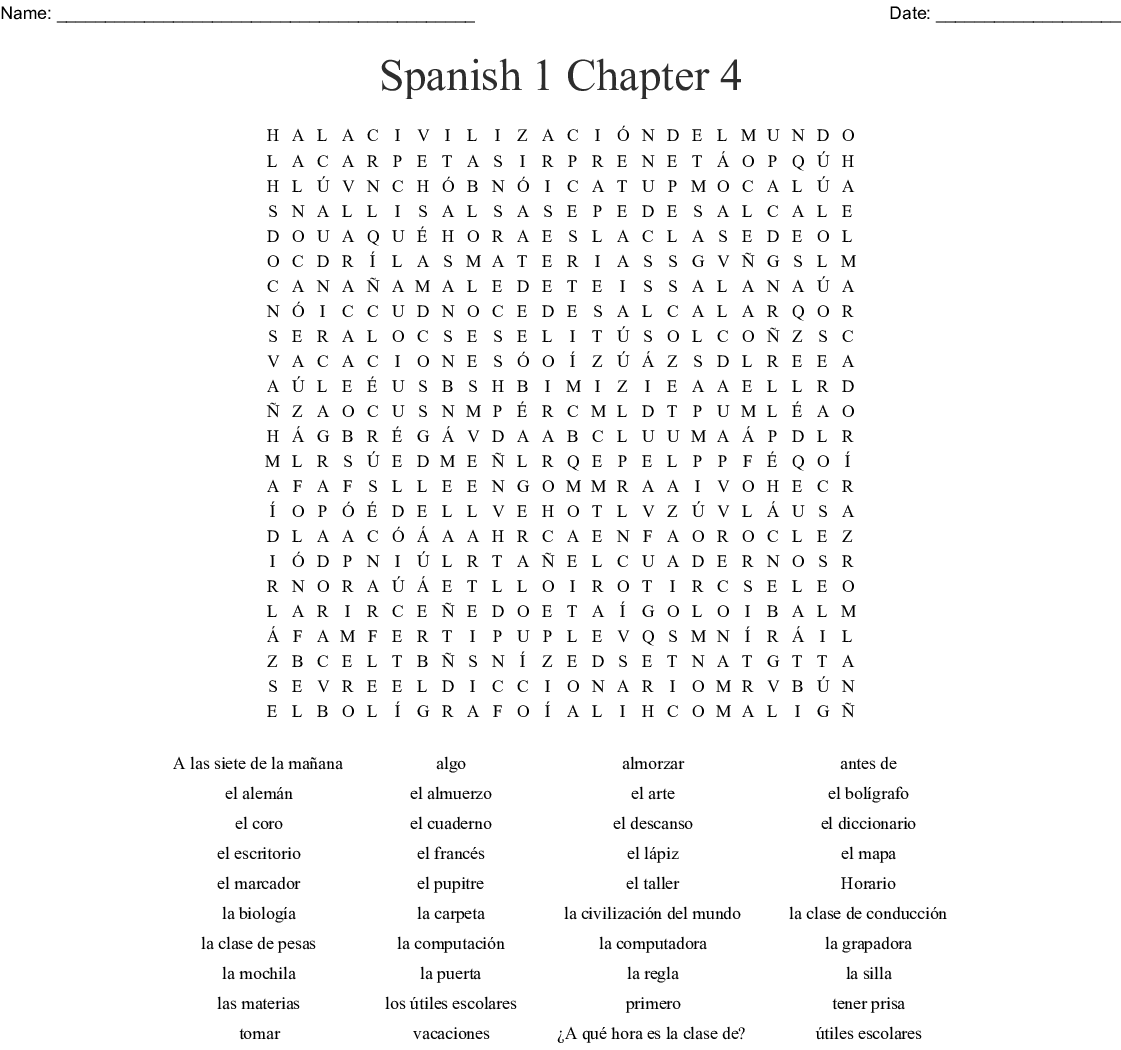 Las Nacionalidades Word Search Wordmint