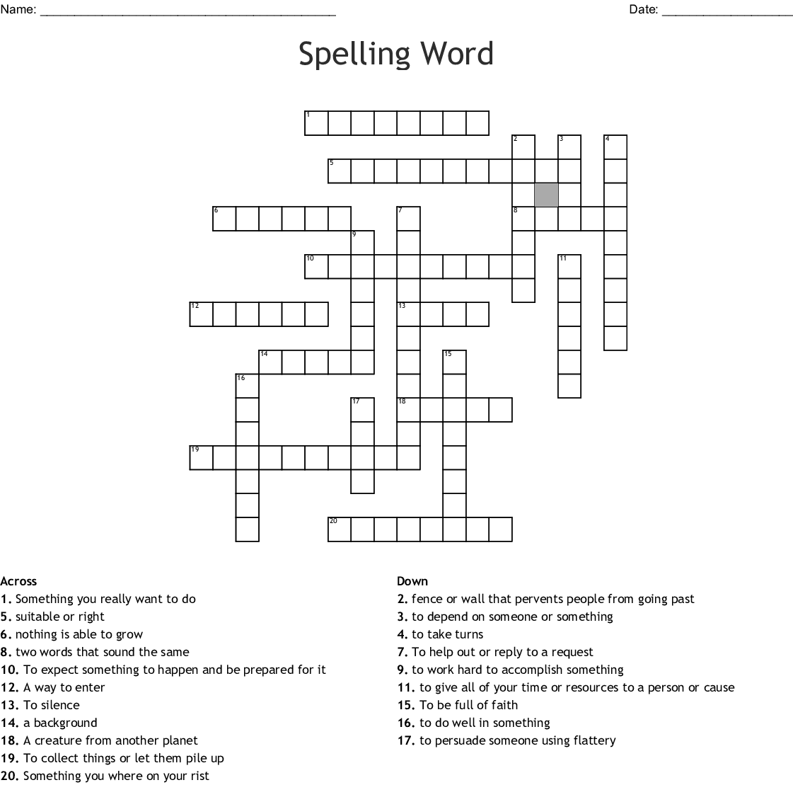 Rianna's Spelling Word Search - WordMint