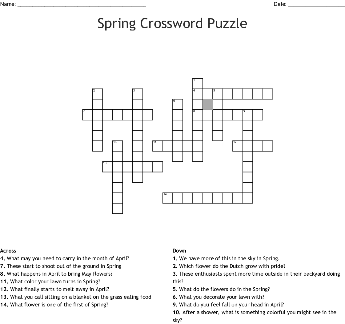 picture regarding Spring Crossword Puzzle Printable referred to as Spring Flower Crossword 9 - Bouquets Healthful