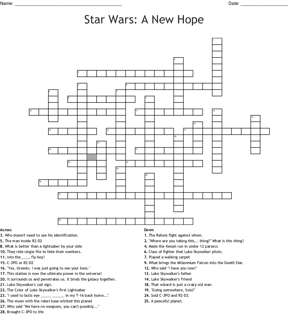It's just a graphic of Sweet Star Wars Crossword Puzzles Printable