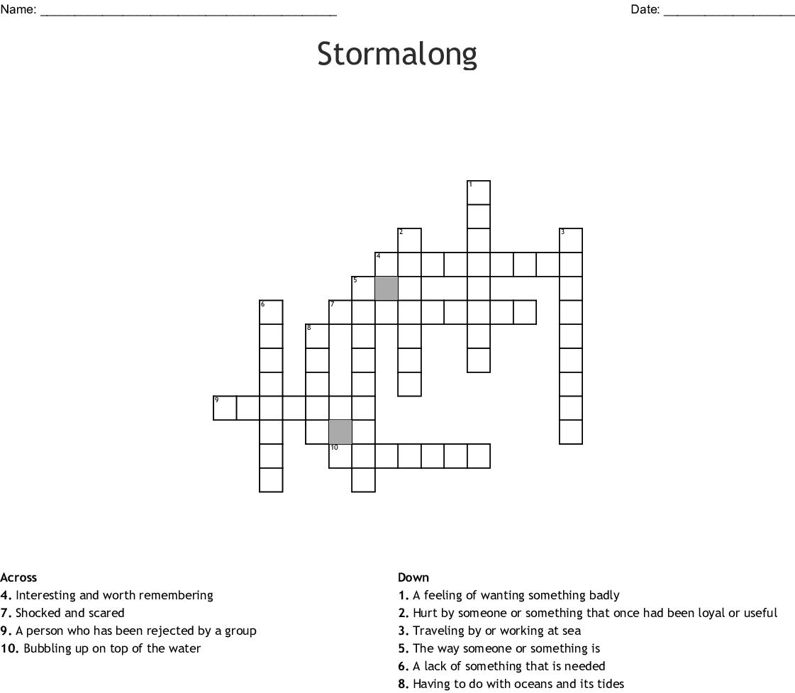 Stormalong Crossword Wordmint