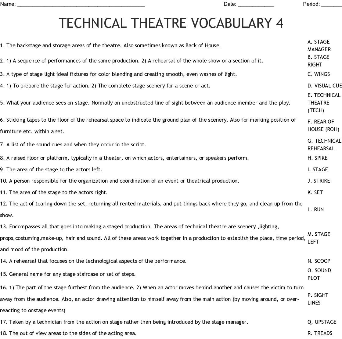 Modern Theatre Word Search Wordmint