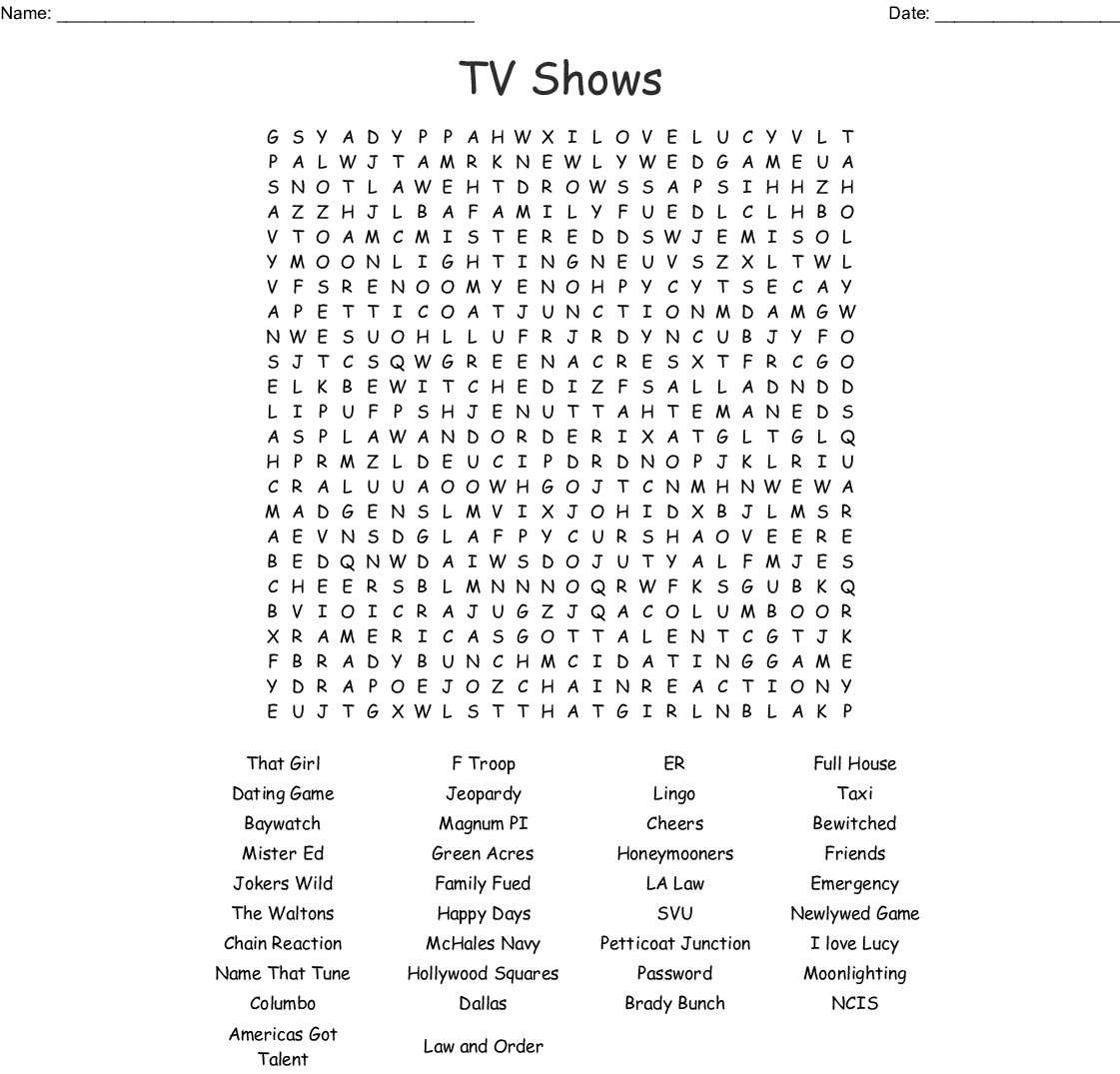 image about Chain Reaction Word Game Printable identified as Outdated Television Demonstrates Phrase Glimpse - WordMint