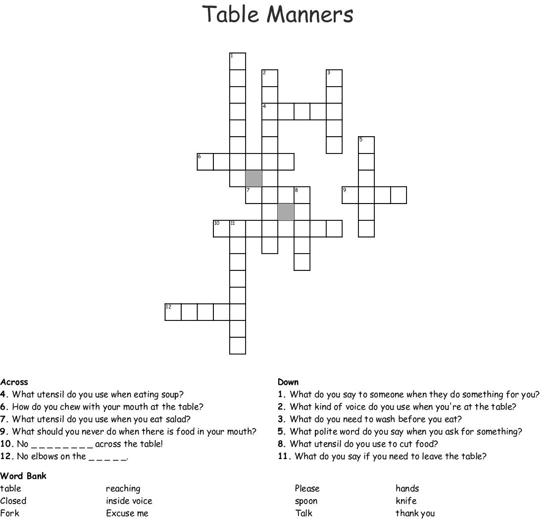 Respect Crossword Wordmint