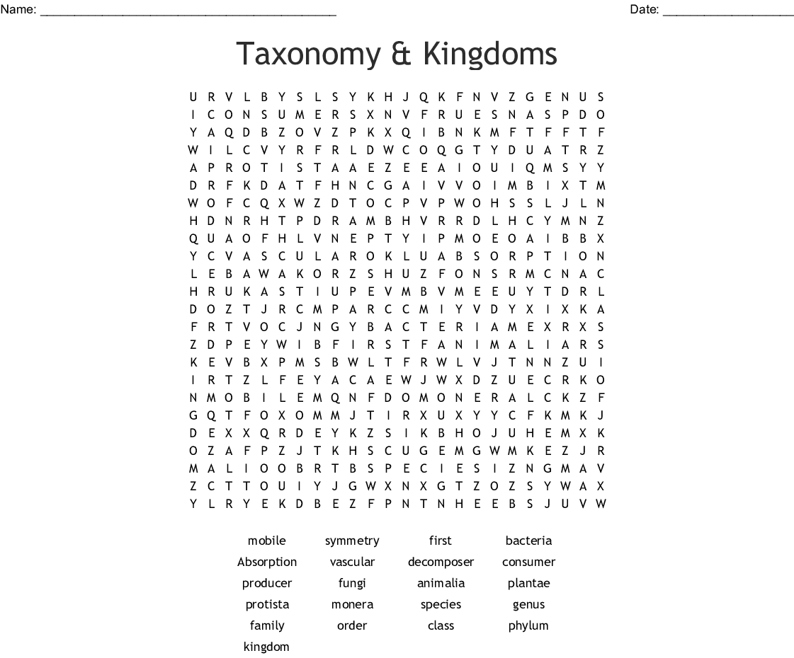 Taxonomy Worksheet Chapter 15 Answers - Escolagersonalvesgui