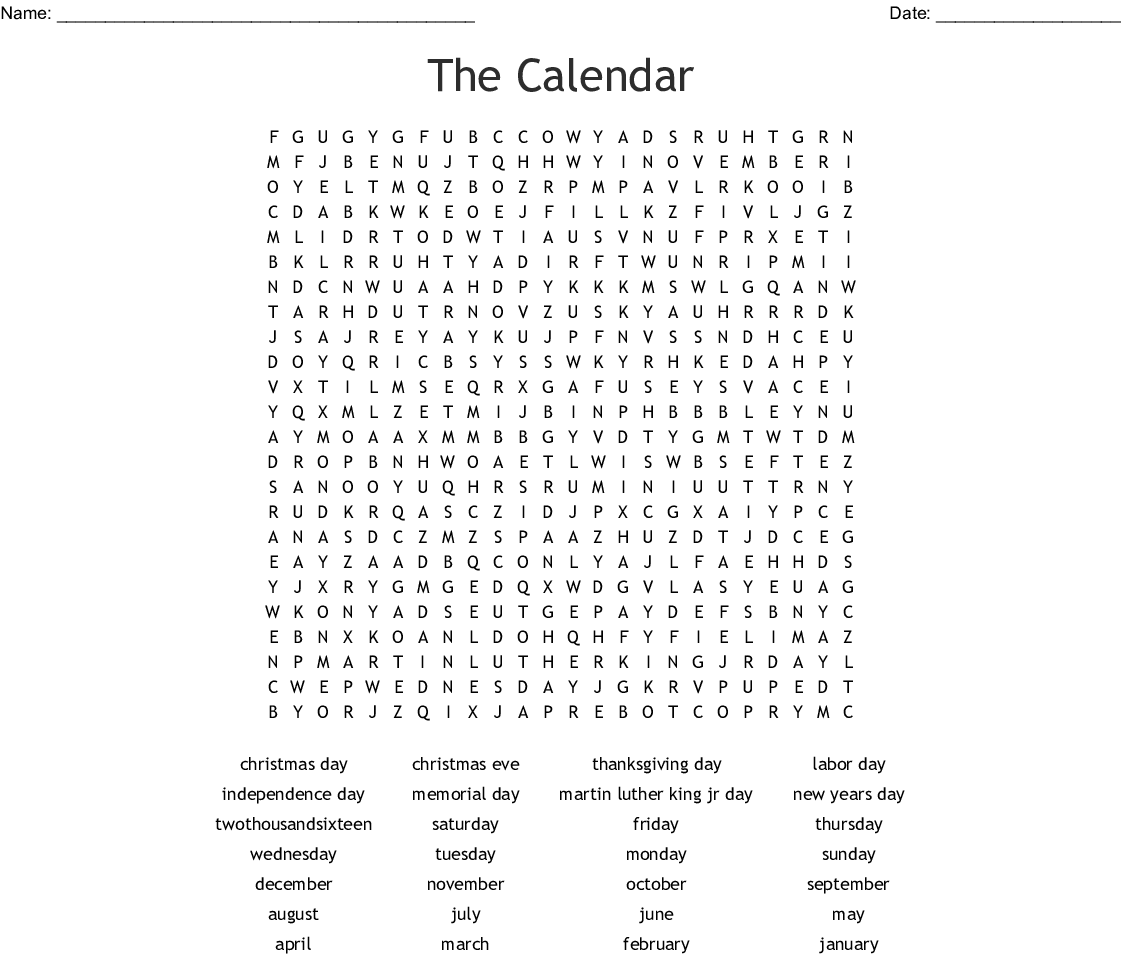 picture regarding Labor Day Word Search Printable referred to as Vacations Phrase Appear - WordMint