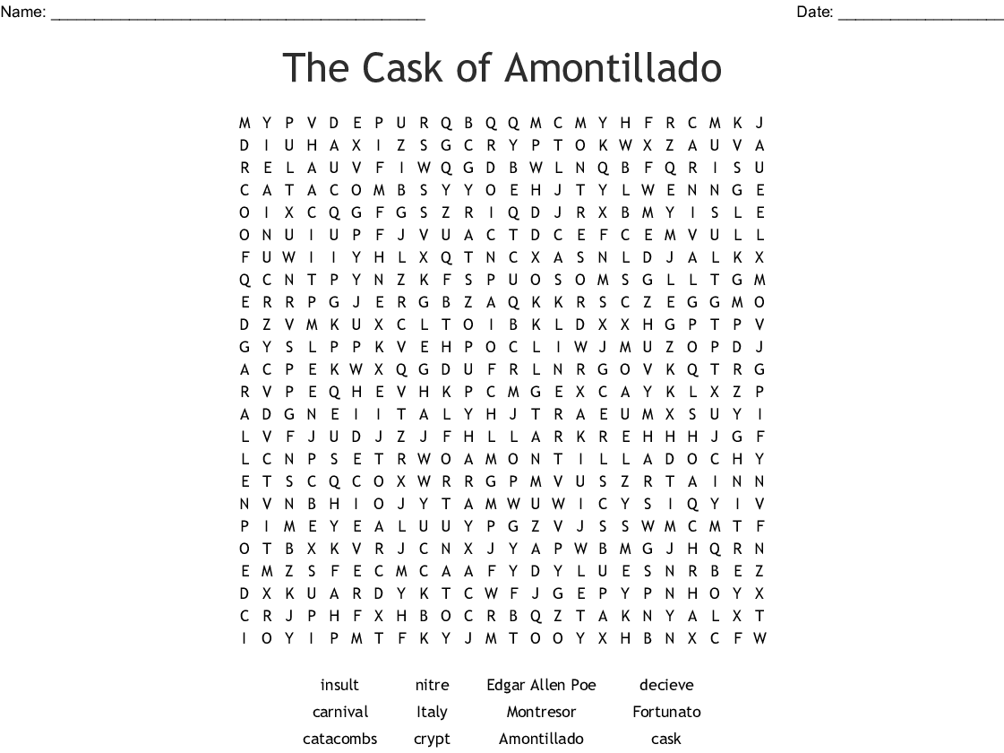 finding slope worksheets e is similar to finding slope also The Cask Of Amontillado Worksheet   Oaklandeffect additionally The Cask of Amontillado p  91 94 worksheets in addition Literacy  Secondary Literature additionally Literary ysis of the cask of amontillado   Coursework Ex le besides The Cask Of Amontillado Worksheet The best worksheets image besides  additionally The Cask of Amontillado  Close Reading Worksheet   Key by additionally The Cask of Amontillado Vocabulary by The Nevermore Store   TpT in addition The cask of amontillado figurative language Coursework Ex le further Cask Plot Diagram   Kyomin Koo   The Cask of Amontillado Directions additionally the Cask Of Amontillado Worksheet Answers   WRITING WORKSHEET further The Cask of Amontillado Word Search   WordMint likewise Literary ysis of  The Cask of AMontillado further  furthermore The Cask Of Amontillado Worksheet Inspirational Pearl Harbor Report. on the cask of amontillado worksheet