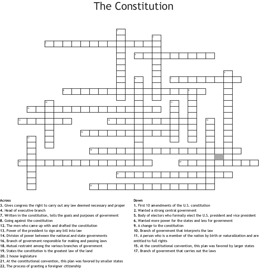 Citizenship Word Search - WordMint