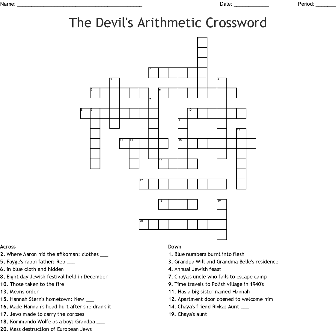 photograph regarding Worlds Hardest Crossword Puzzle Printable known as 6 For Supper Crossword