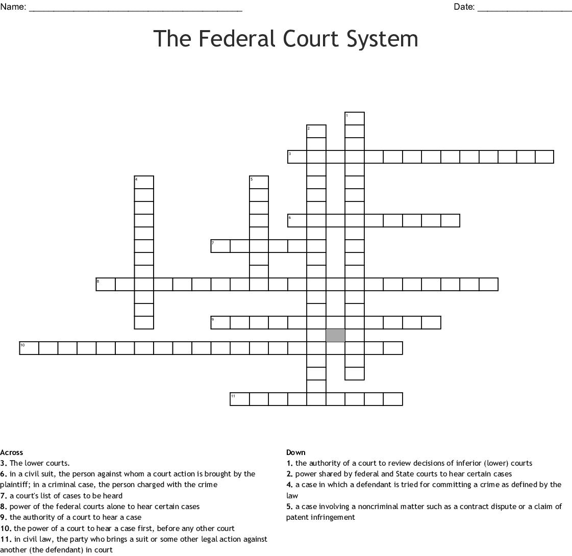 Supreme Court Vocabulary Crossword Puzzle - WordMint