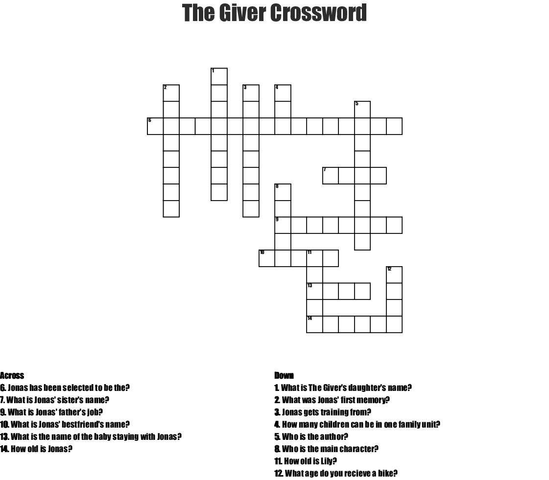 Amazing Race Crossword Puzzle For Staff