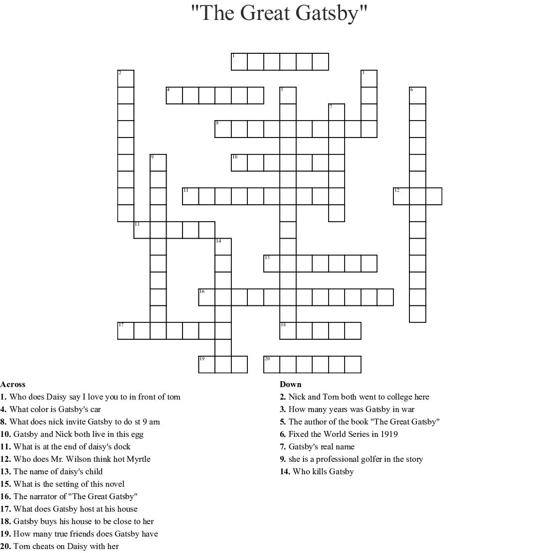 Crossword Riddles Wordmint