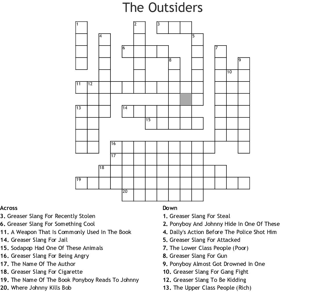 1920s Slang Crossword - WordMint