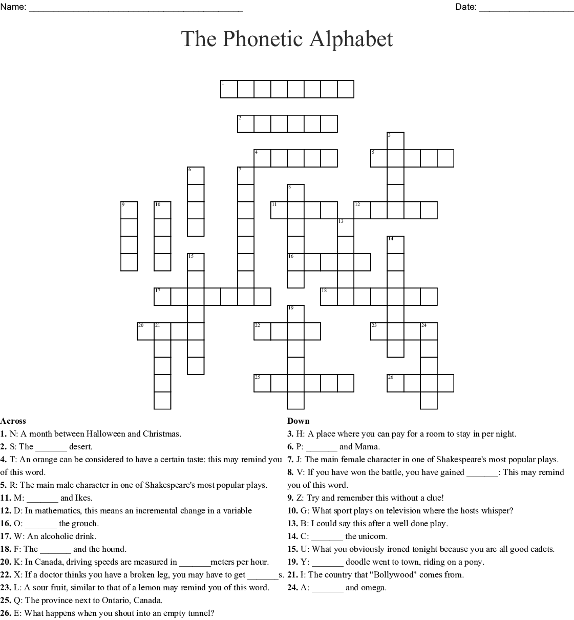Similar To Phonetic Alphabet Word Search Wordmint