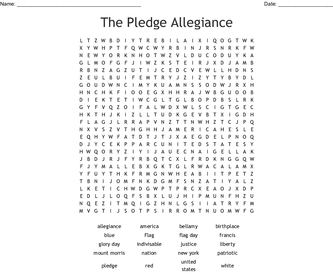 picture regarding Pledge of Allegiance Printable identify The Pledge Allegiance Phrase Seem - WordMint