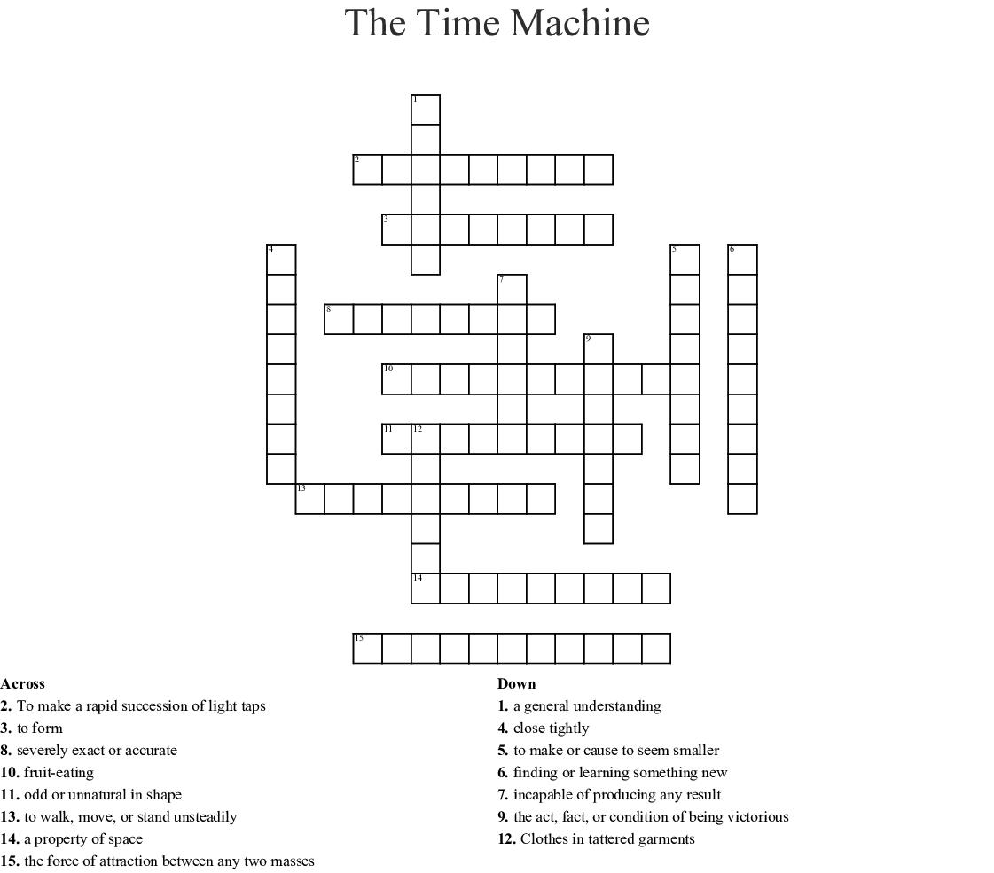 The Time Machine Crossword Wordmint