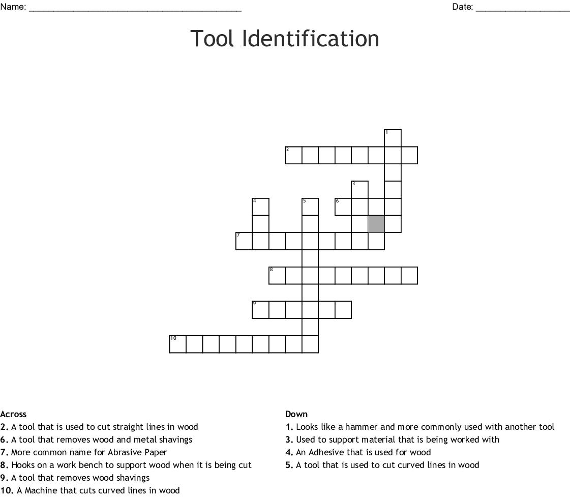 Tool Identification Crossword Wordmint