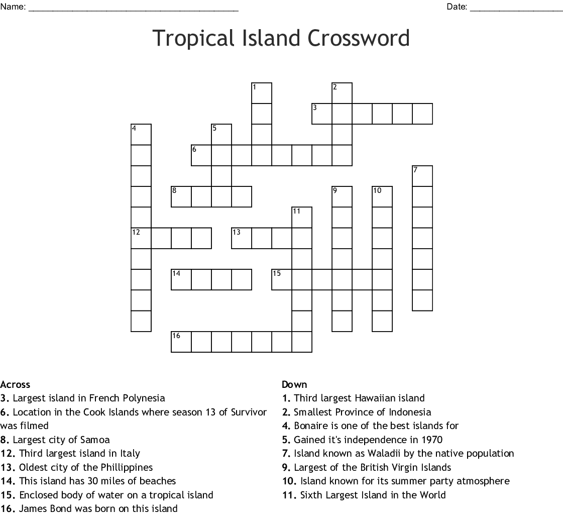 largest of the british virgin islands crossword