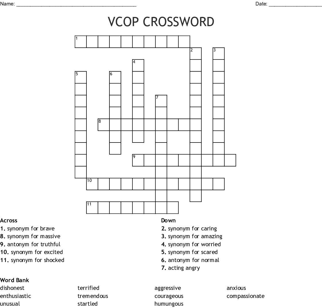 VCOP CROSSWORD - WordMint