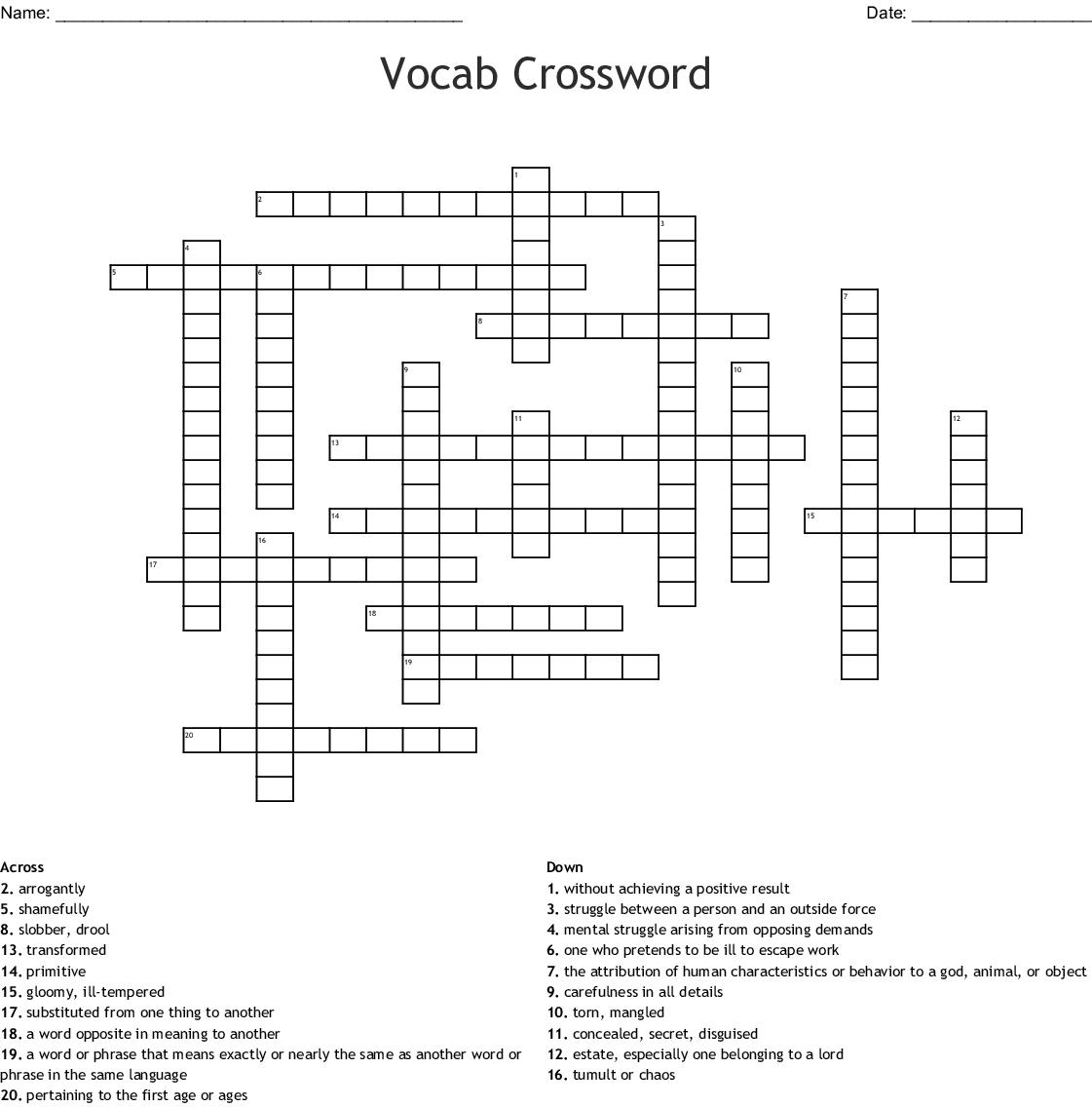 Call of the Wild Crossword - WordMint