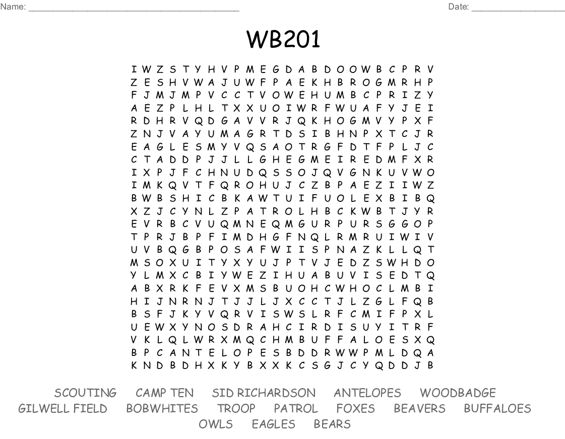 WB201 Word Search   WordMint