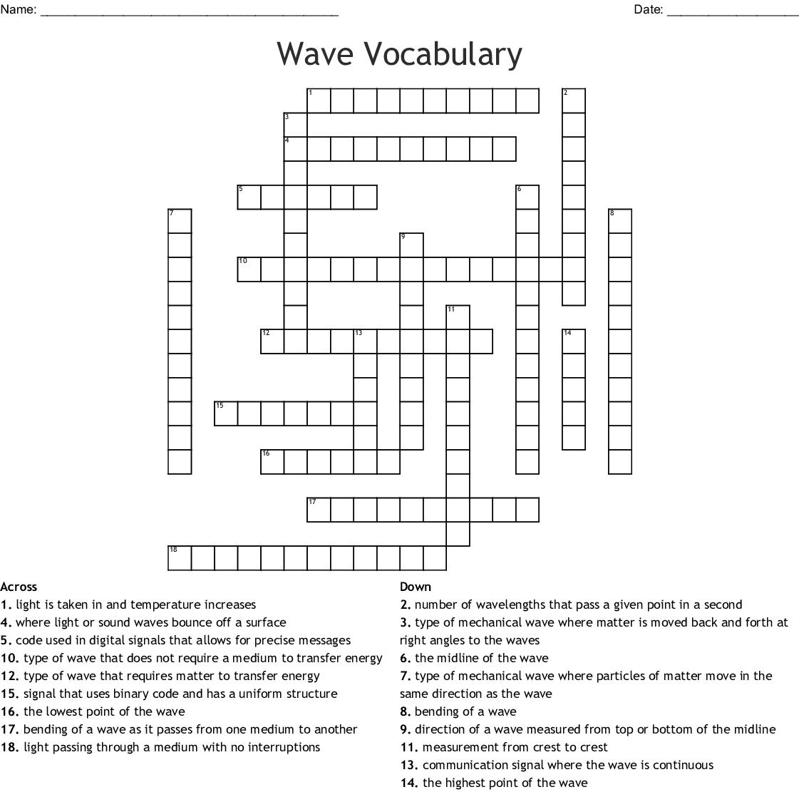 Waves Worksheet Answer Key - Nidecmege