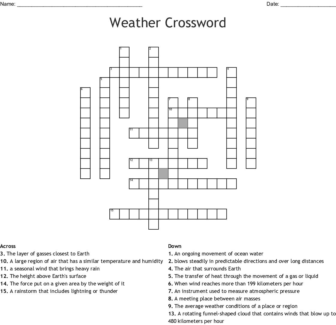 Weather Crossword Wordmint