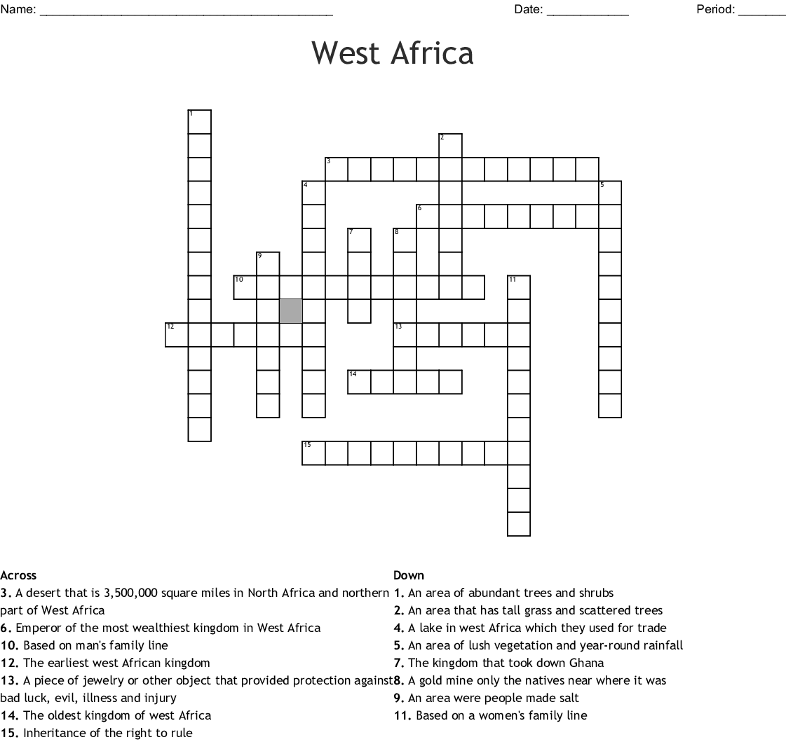 West Africa Word Search Wordmint