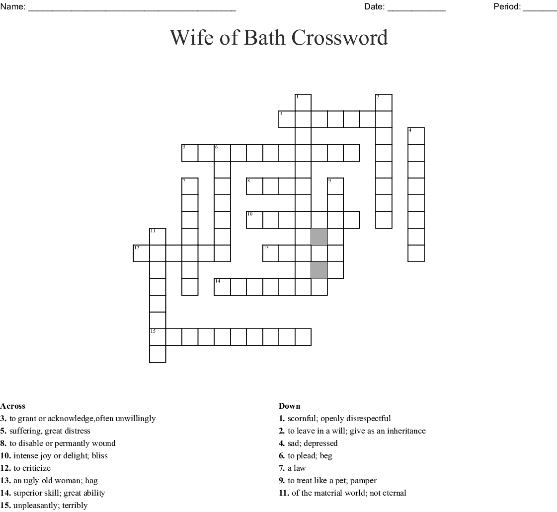 Emotions Crossword Puzzles Crossword Labs