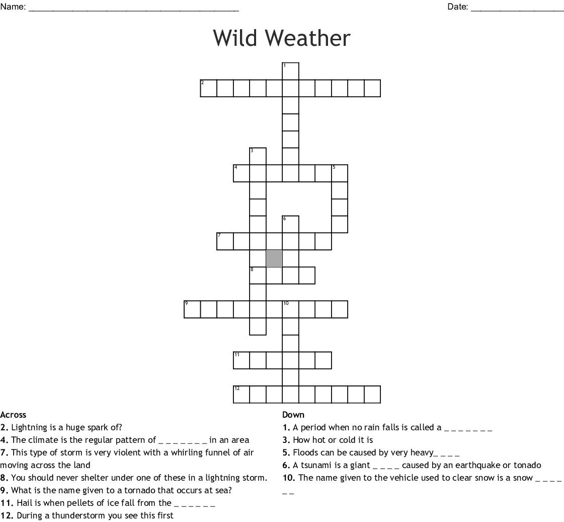 Wild Weather Crossword Wordmint