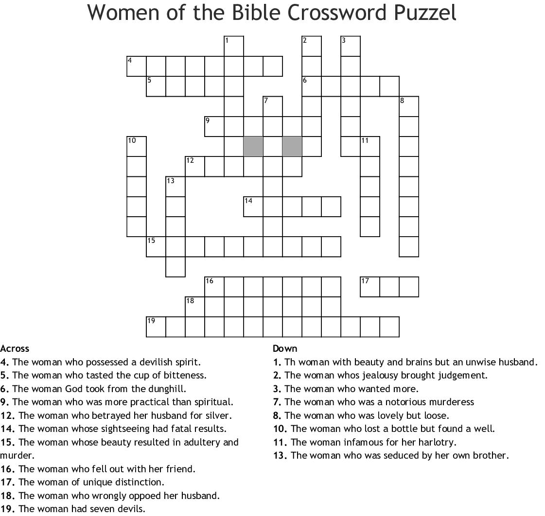 Women Of The Bible Crossword Puzzle Wordmint