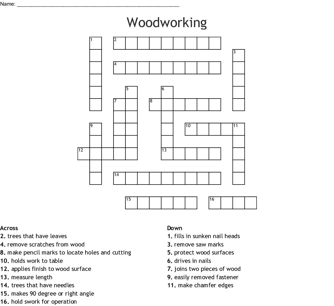 Woodworking Crossword Wordmint