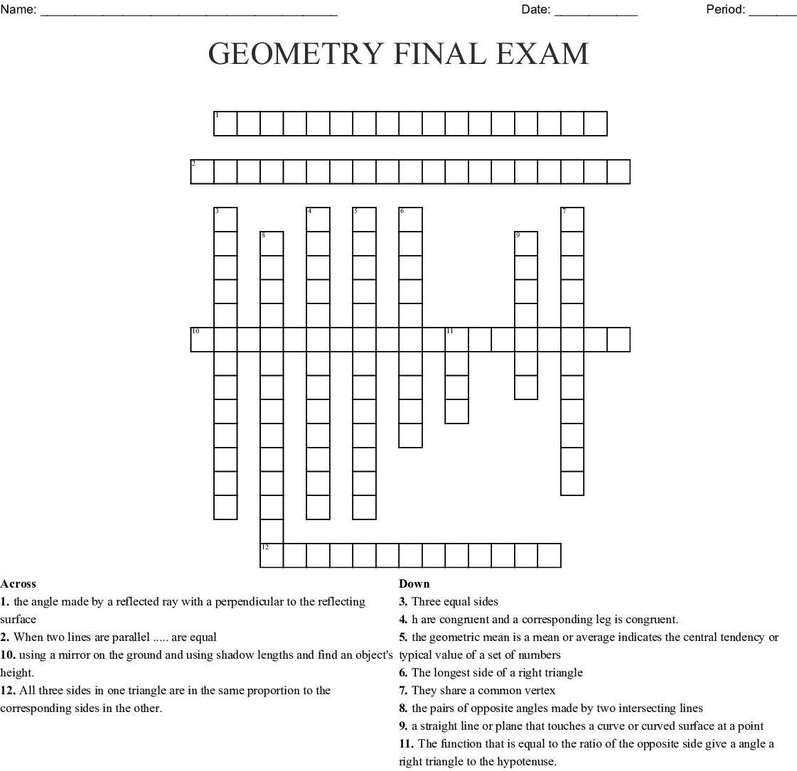 Mathematics Crosswords, Word Searches, Bingo Cards - WordMint
