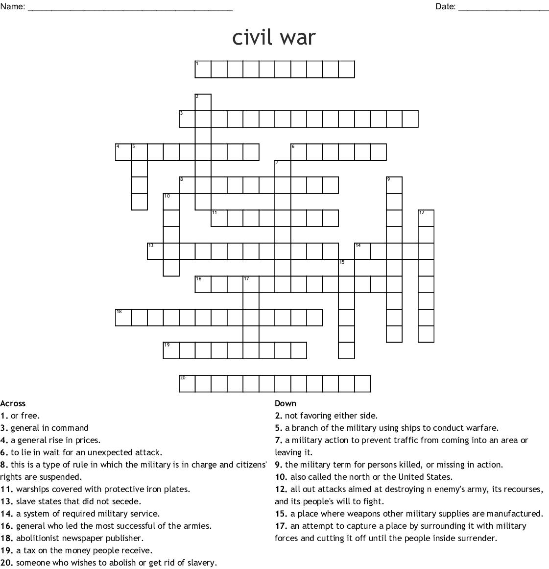 Chapter 15 Crossword Puzzle - WordMint