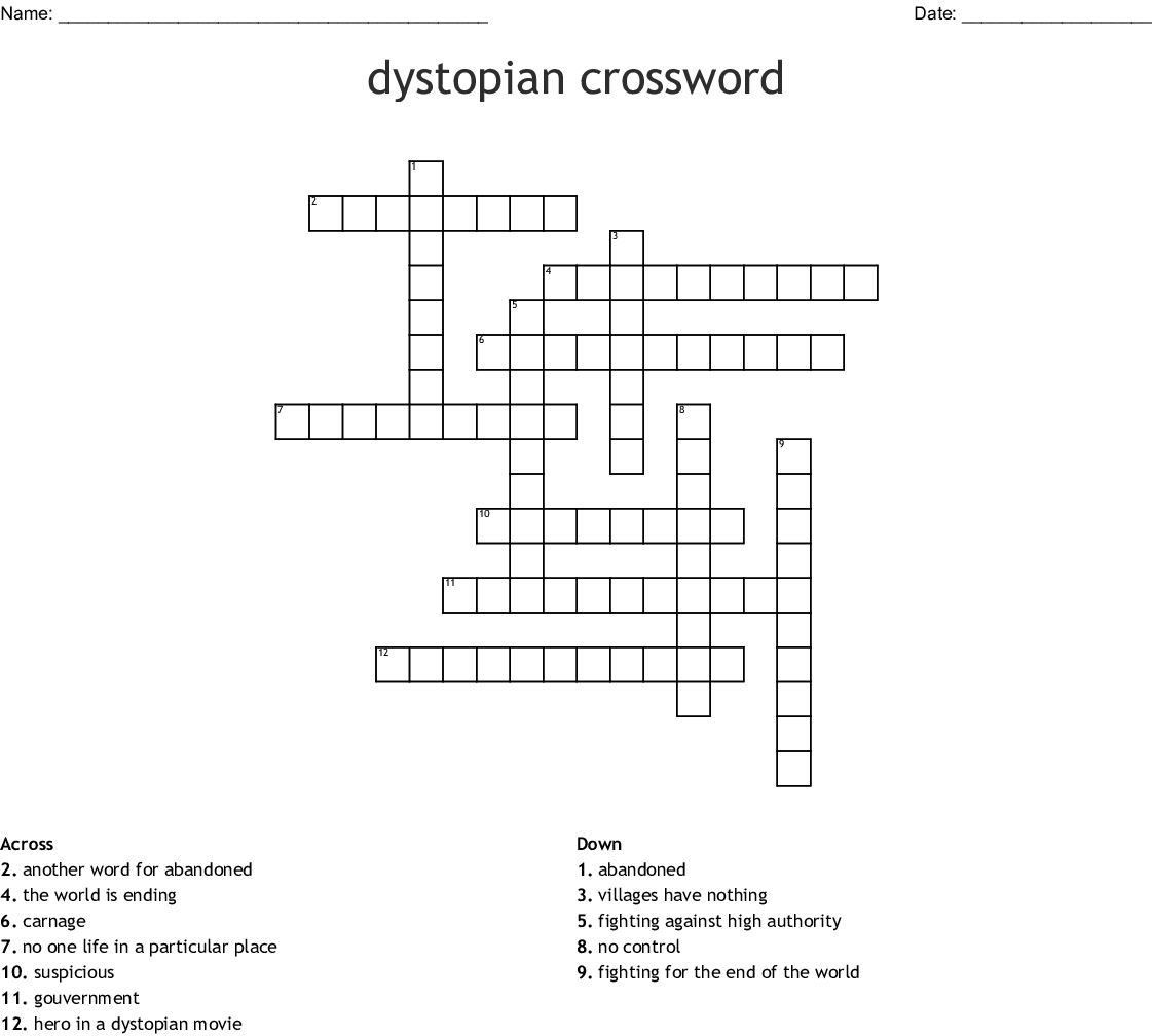 Dystopian Word Search