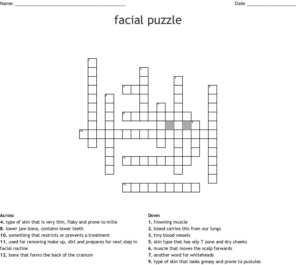 Facial Puzzle Crossword Wordmint