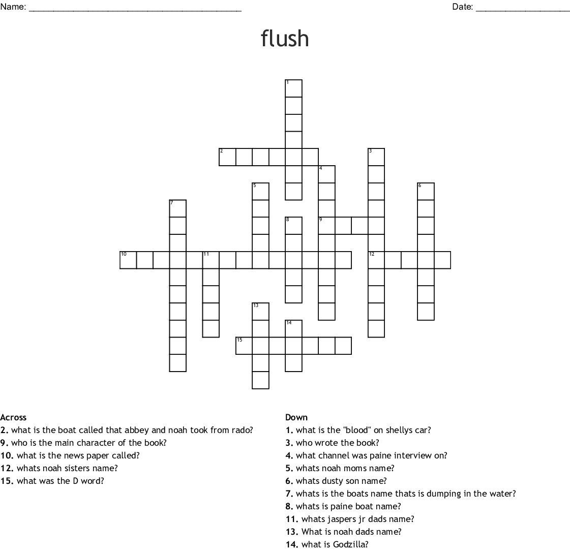 Flush Crossword Wordmint