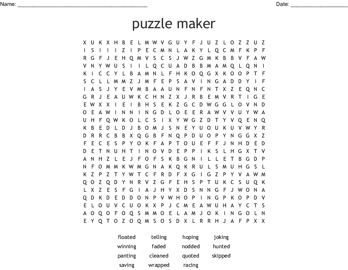 puzzle maker Word Search - WordMint