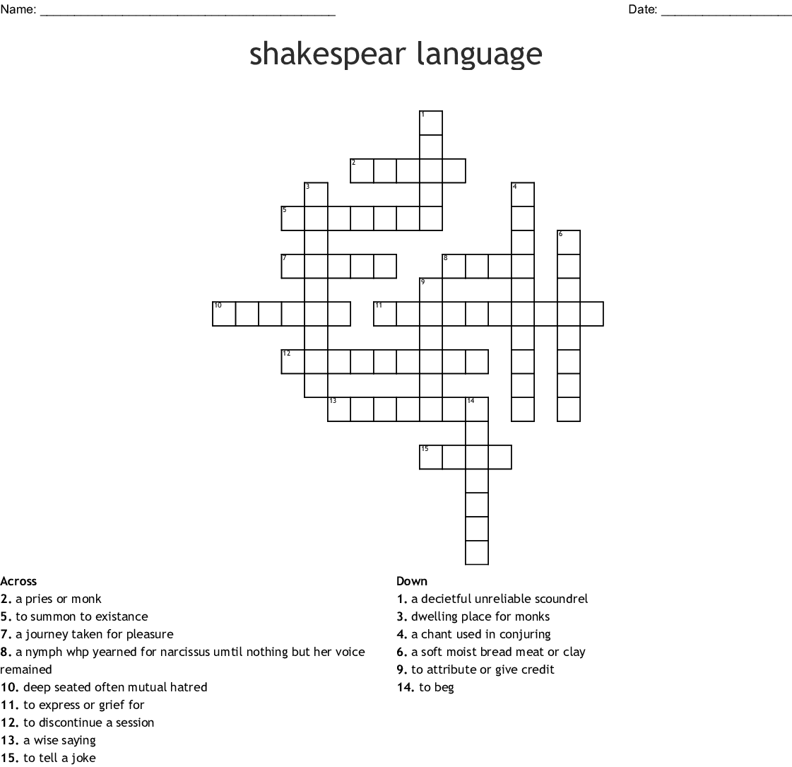Romeo And Juliet Act 2 Crossword Wordmint